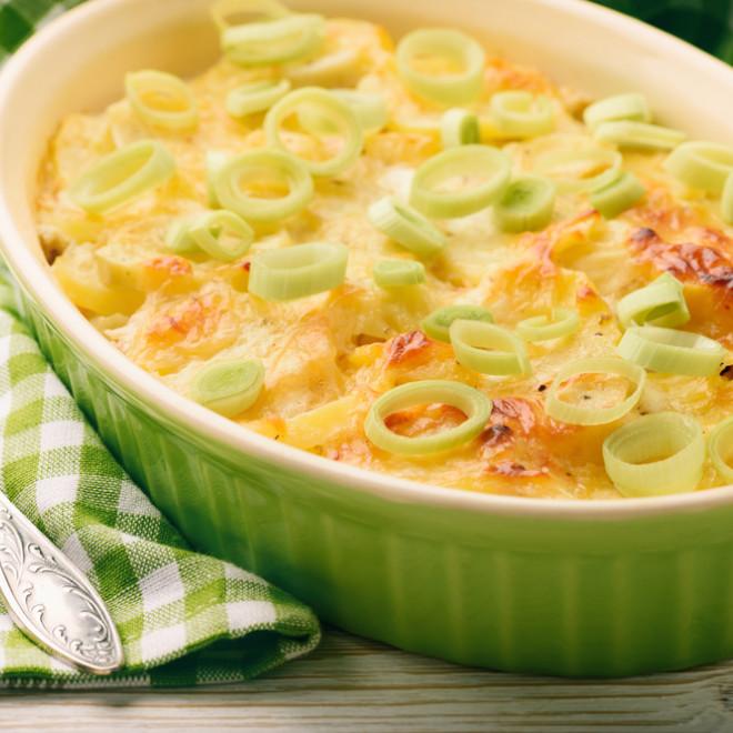 recette gratin de poireaux au fromage oeufs et muscade