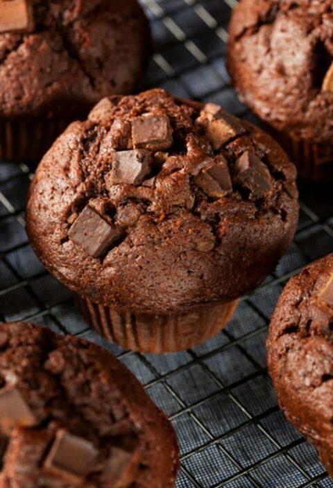 Muffins tout chocolat - %idee recette%