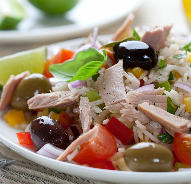 Salade de riz d'été facile - %idee recette%